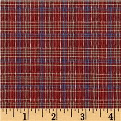 Winter Games Woven Yarn Dyed Plaid Red