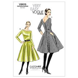 Vogue Misses' Dress Pattern V8615 Size BB0