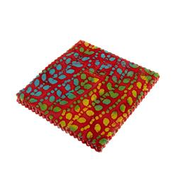 Indian Batiks Assorted 5'' Charm Pack Red