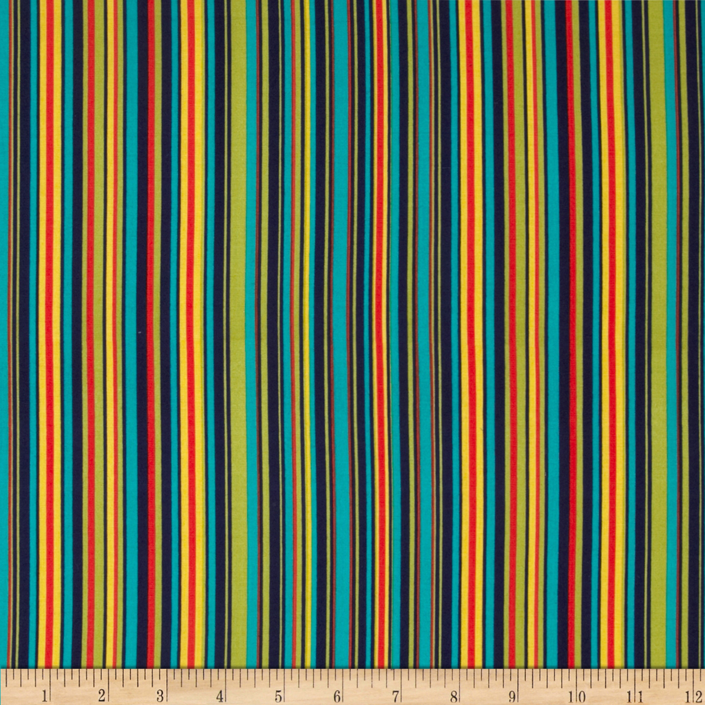 Michael Miller Play Stripe Navy Fabric
