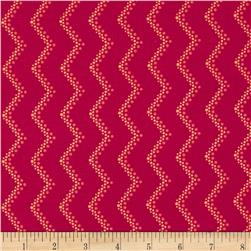 Modern Age Tone-on-Tone Chevron Red