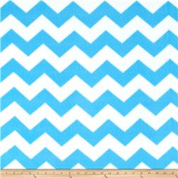 Simply Chevron Fleece Blue