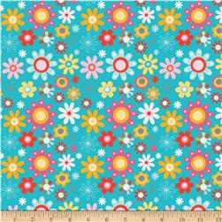 Riley Blake Girl Crazy Floral Blue