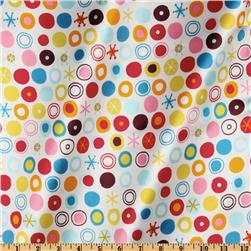Robert Kaufman Silky Satin Circle Ole White