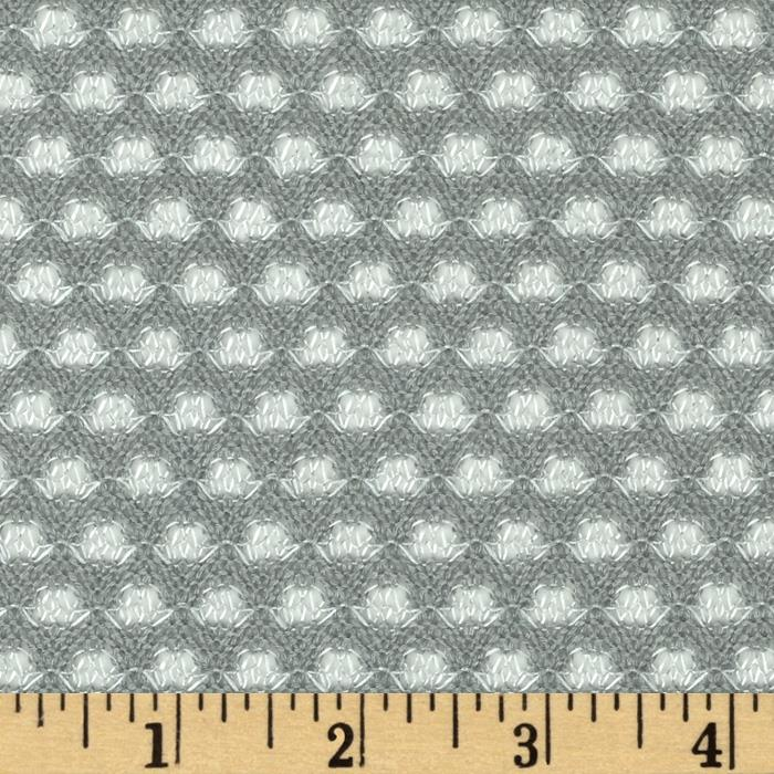 Rayon Poly Sweater Knit Dots Grey/White