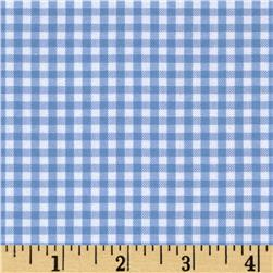 Kaufman 1/8'' Carolina Gingham Periwinkle Fabric