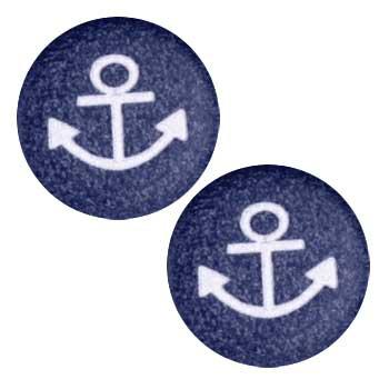 Novelty Button 5/8'' Bebe Anchor Navy
