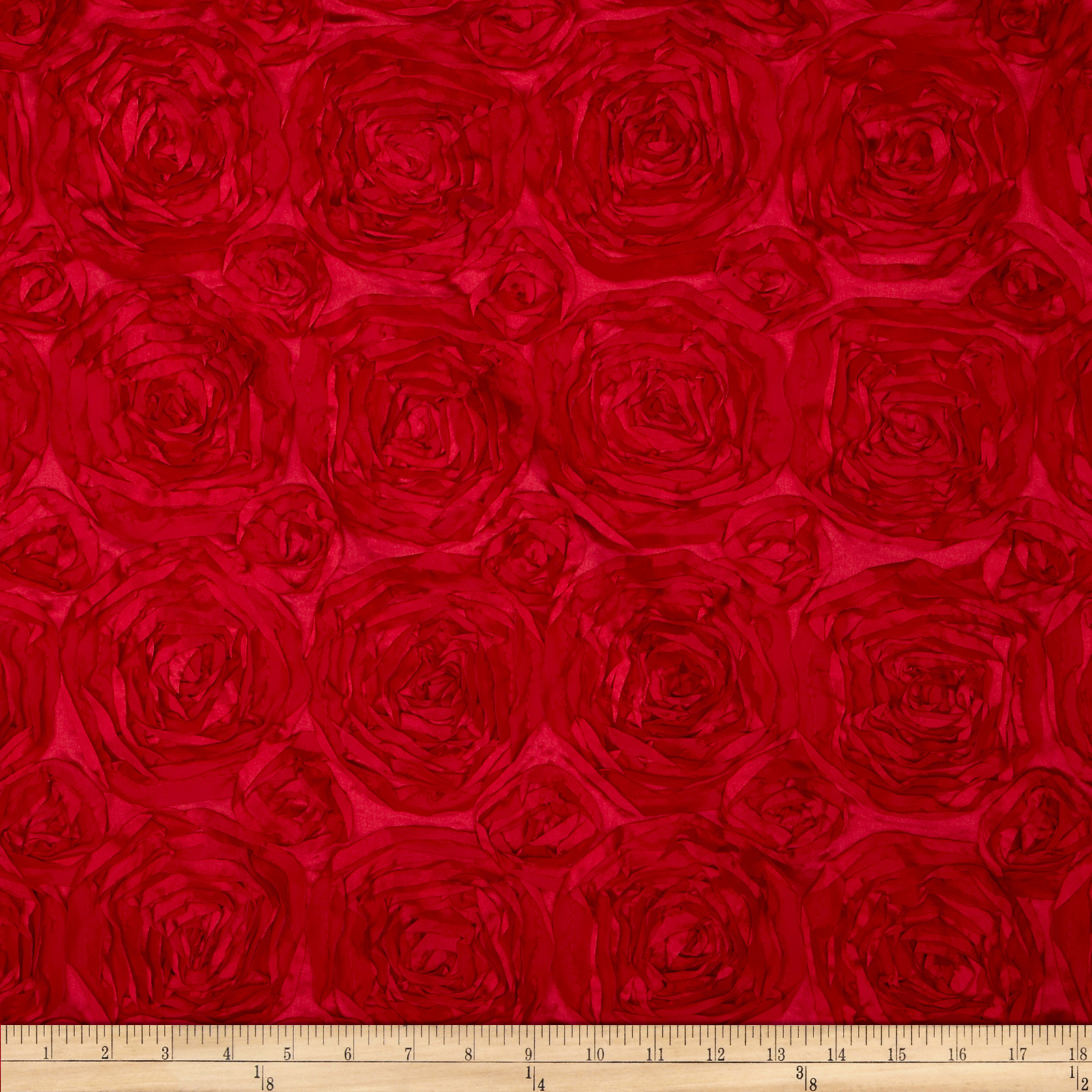 Rosette Satin Red Fabric by Richland in USA