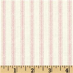Nursery Rhyme Ticking Stripe Pink