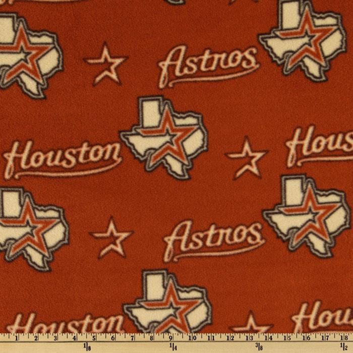 MLB Fleece Houston Astros Toss Cream/Sienna