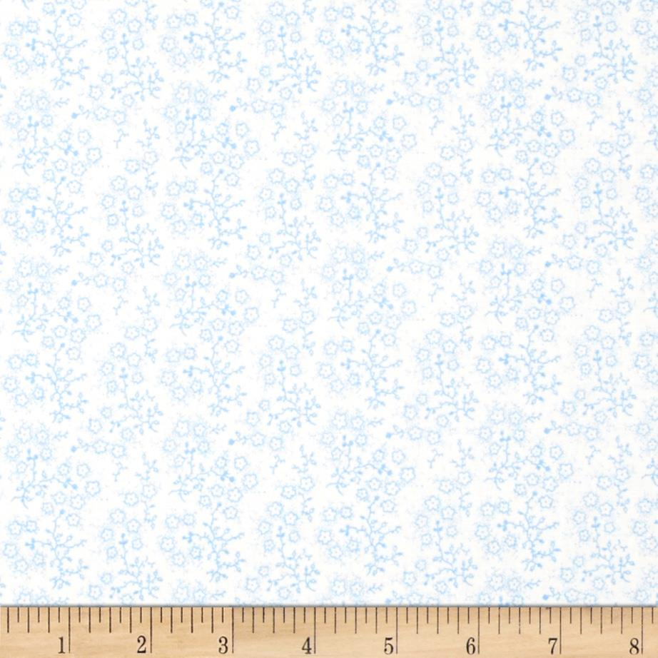 Mini Floral White/Blue