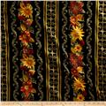 Kanvas Autumn Splendor Metallic Autumn Garland Black