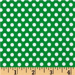 Michael Miller Happy Tones Kiss Dot Grass Fabric