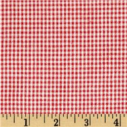 Cotton Seersucker Check Red/White