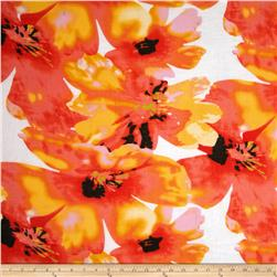 Jonquil Shirting Floral Coral/Yellow