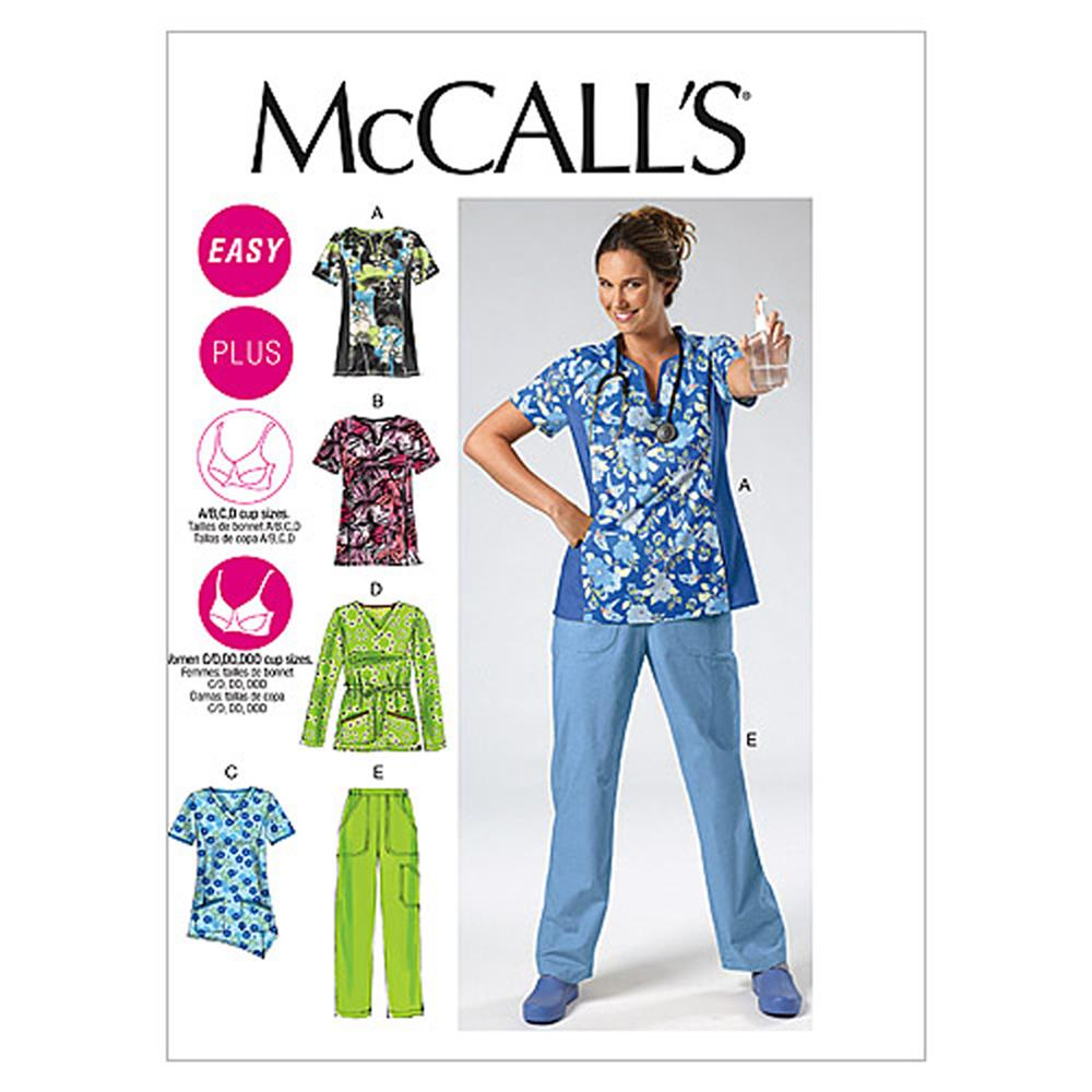 McCall's Misses'/Women's Tops and Pants Pattern M6473 Size B50