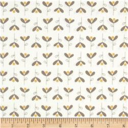 Moda Corner of 5th & Fun Bleeding Hearts Flannel Ivory