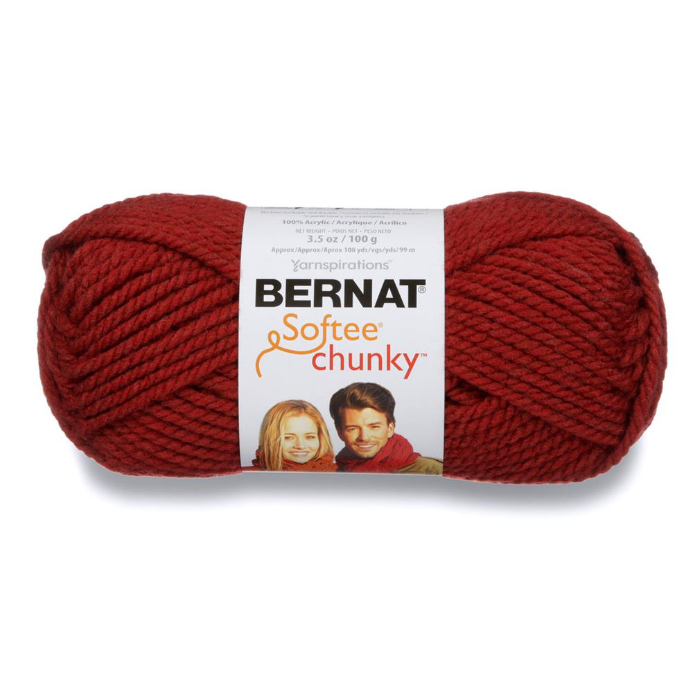Bernat Softee Chunky Yarn (28522) Redwood