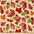 Colors of Fall Tossed Leaves Tan