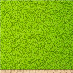 Breezy Blooms Scribble Dot Light Green Fabric