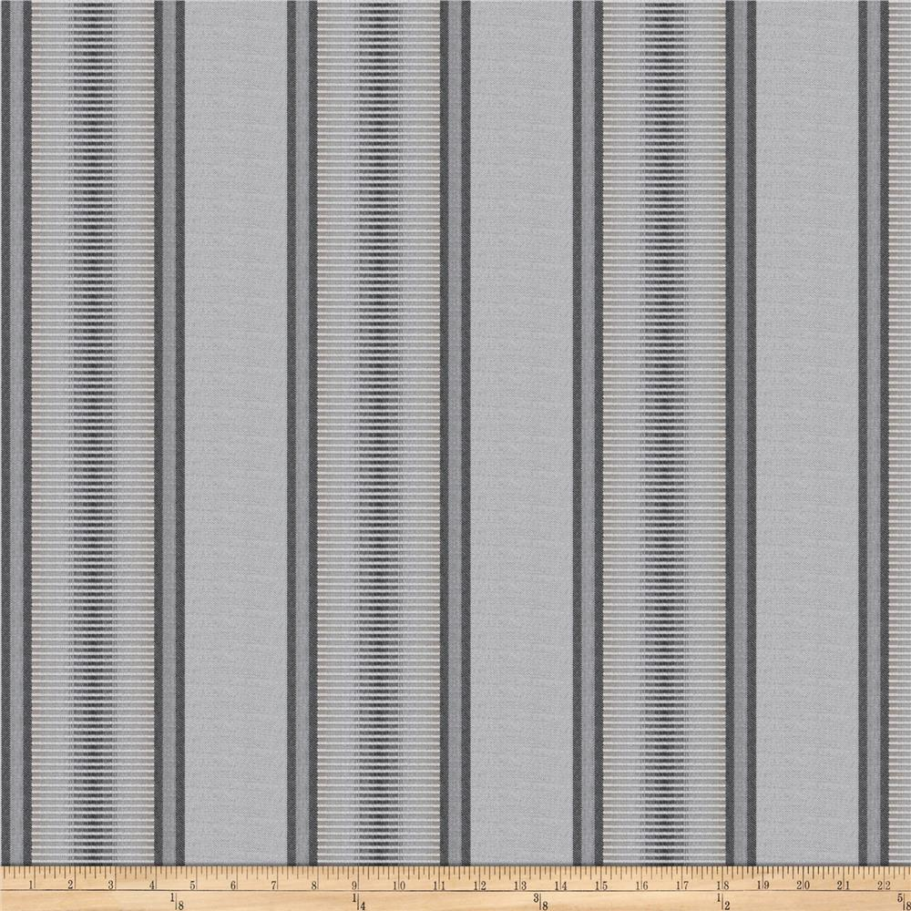 Kendall Wilkinson Indoor/Outdoor Jacquard Sunset Stripe Stone