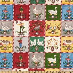 Windham 12 Days of Christmas Squares Multi