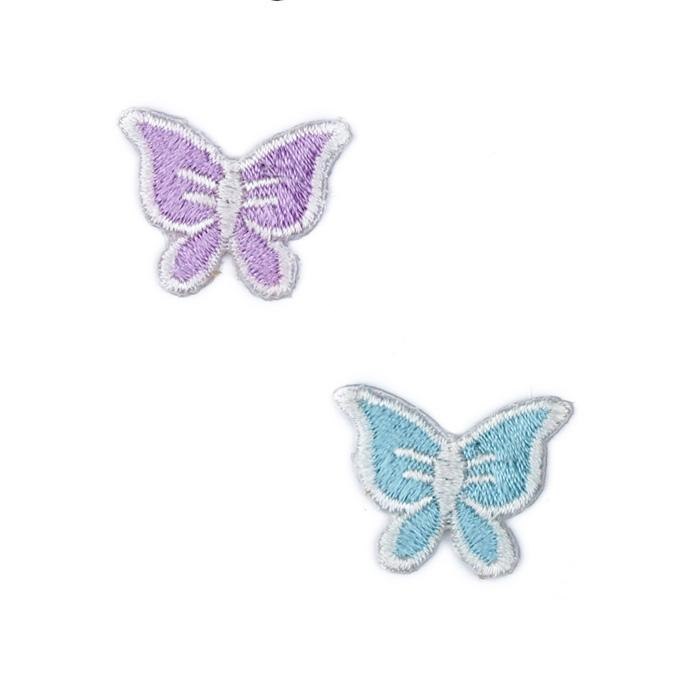 Boutique Applique Butterflies Purple/Aqua