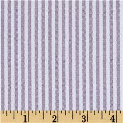 Oxford Shirting Yarn Dyed Large Stripe Grey/White
