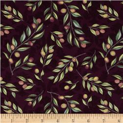 Della Terra Tossed Olive Branches Purple