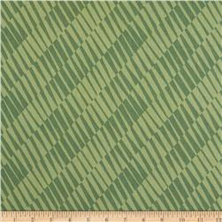Return to Mackinaw Island Geometric Teal Green Fabric
