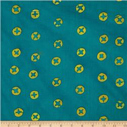 Alison Glass Hand Dye Batiks Dots Teal