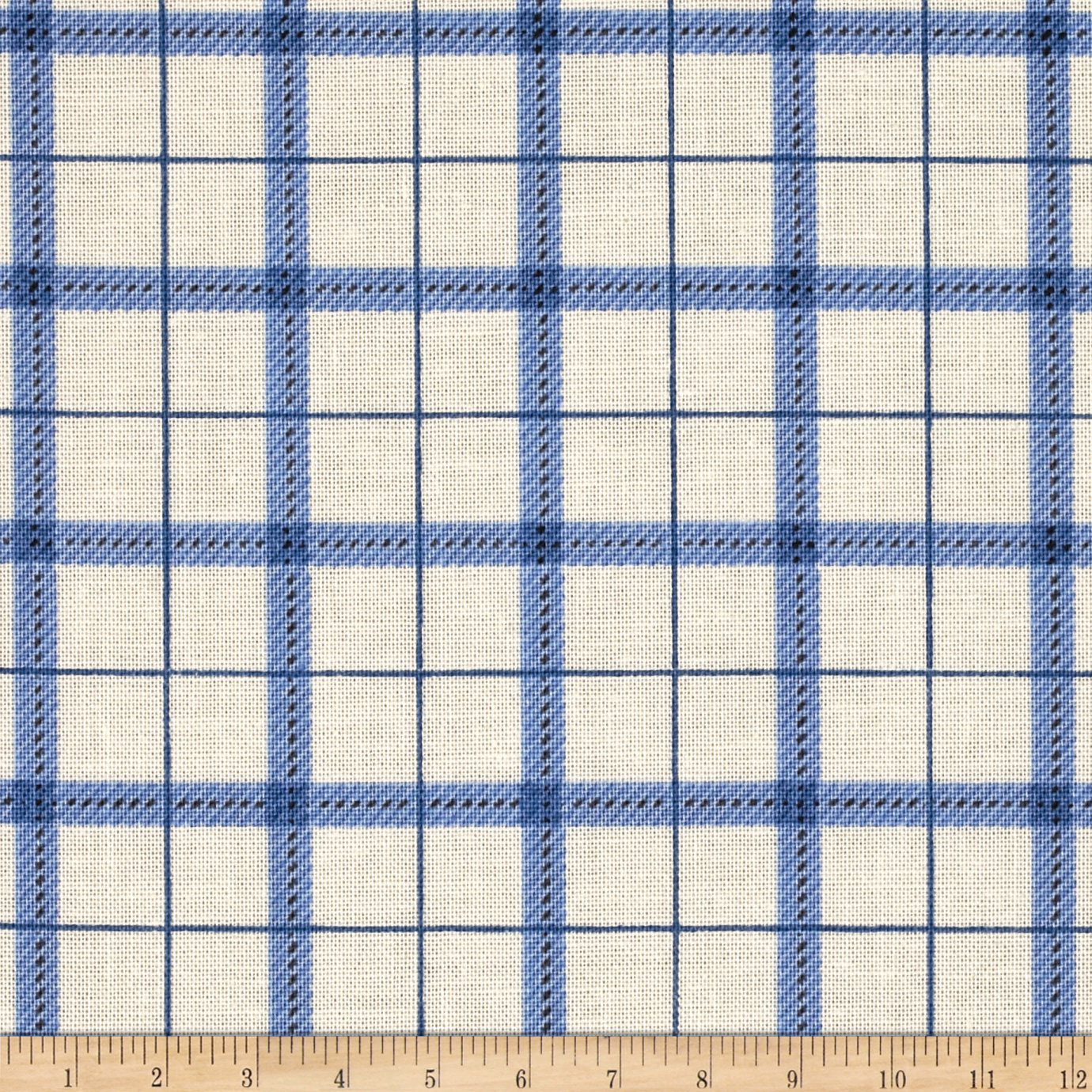 Image of Reel It In Plaid Blue Fabric