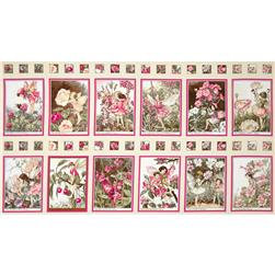 Michael Miller Flower Fairies 24'' Panel Blossom Fabric