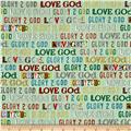 Glory Love God Text Light Green