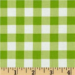Sweet Lady Jane Garden Gingham Green Fabric