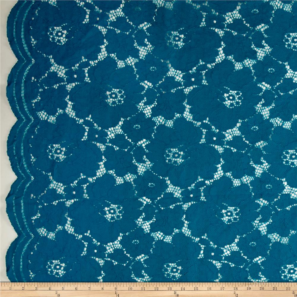 Telio Sadie Lace Teal Fabric