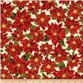 Holiday Accents Classics 2016 Poinsettia Cream Metallic