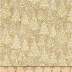Homespun Holiday Metallic Trees Gold