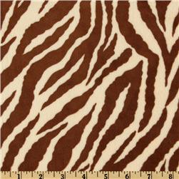 Minky Cuddle Zebra Butter/Brown