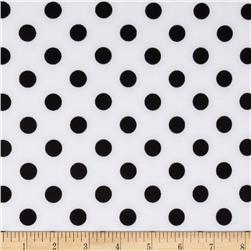 Scuba Knit Dots White/Black