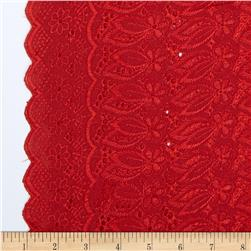 Fancy Eyelet Red