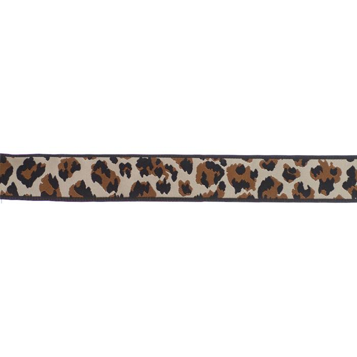 7/8'' Ribbon Leopard Brown/Black