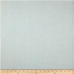Home Accents Strada Ticking Stripe Sky Blue Fabric