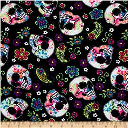 Swimwear Sugar Skulls Neon/Black
