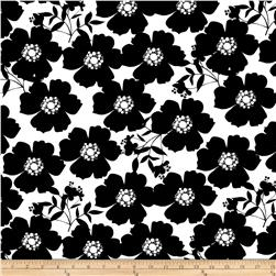 Camelot Jackie Big Floral Black/White