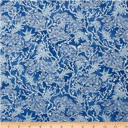 Snow Festival Pine Boughs Metallic Blue