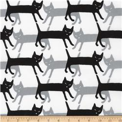 Kaufman Sevenberry Mini Prints Cats Grey