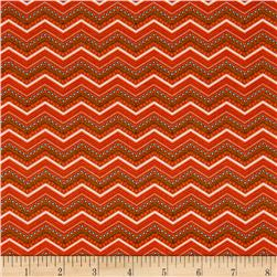 Riley Blake Bittersweet Chevron Orange