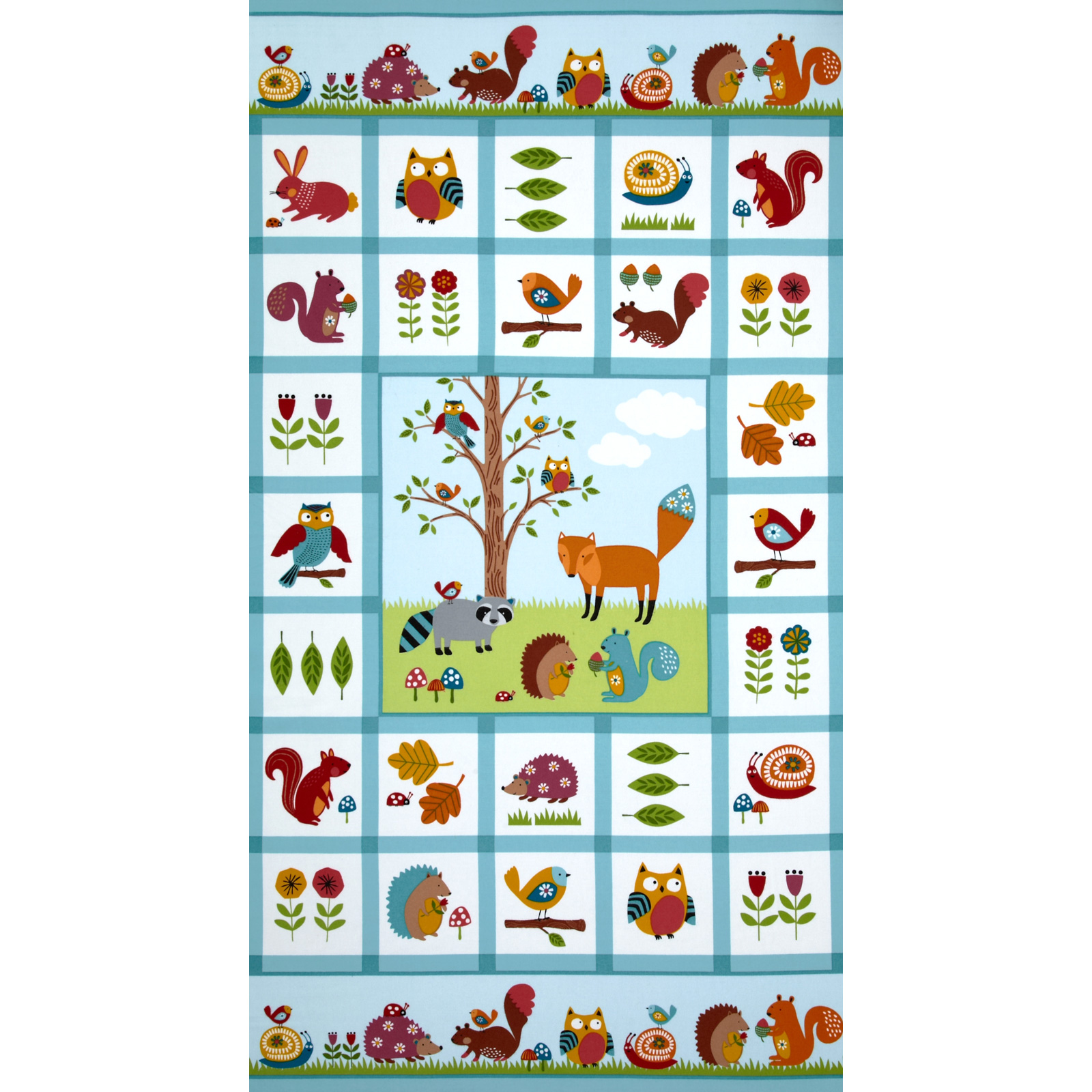 Woodland Friends Flannel Panel Multi