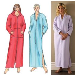 Kwik Sew Zip Front Robes Pattern